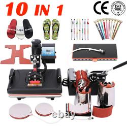 10 In 1 Combo Heat Press Machine Thermal Sublimation Transfer Printer For Cap/Mu