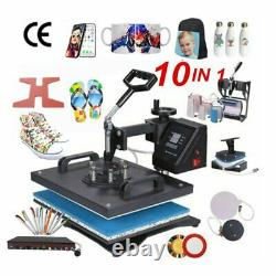 10 in 1 Combo Heat Press Machine Sublimation Heat Transfer Machine For T Shirt