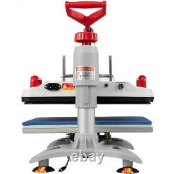 12x15 Heat Press 5 in 1 Sublimation Transfer Machine for T-shirt Mug Plate Cap