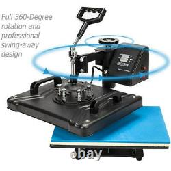 15 in 1 Combo Heat Press Machine Thermal Sublimation Transfer Printer For Cap