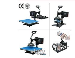 3038CM 8 in 1 Combo Heat Press Machine Sublimation Printer 2D Thermal Transfer