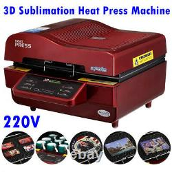 3D Sublimation Heat Press Machine for Phone Cases Mugs Cups Heat Transfer, 220V