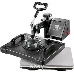 5 in 1 Combo 12X15 Heat Press Transfer Sublimation T-Shirt+Jigsaw puzzle+Plate