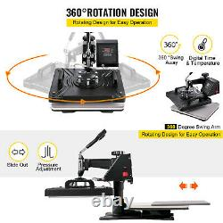 8 in 1 Combo 12x15 Heat Press Transfer Sublimation T-Shirt+Jigsaw puzzle+Plate