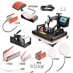 Combo Heat Press Machine Sublimation Printer 2D Transfer Print For Business Used