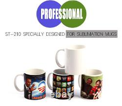 Double Station Mug Heat Press Machine For 11OZ Cup Sublimation Heat Transfer New