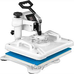 Heat Press 5 In 1 Heat Press 12X15 Inch White Transfer Sublimation for Hat Shoes