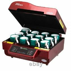 Heat Press Machine 3D Sublimation for Phone Cases Mugs Cups Heat Transfer 110V
