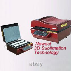 New 3D Sublimation Transfer Heat Press Machine Printer for Phone Cases Mugs Cups