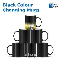 Sublimation Black Colour Changing Mugs 11oz Coated Magic Cup Heat Transfer