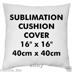 Sublimation Cushion Cover Soft Polyester 40cm 16Heat Press Print Transfer Blank