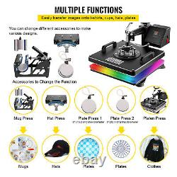 Imprimante Diy 15x15 T-shirt Heat Press Transfer 6in1 Combo Printing Sublimation